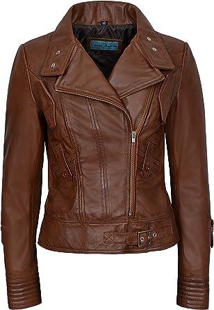 Supermodel Ladies Olive Green Biker Style Designer Real Italian Leather Jacket 4110