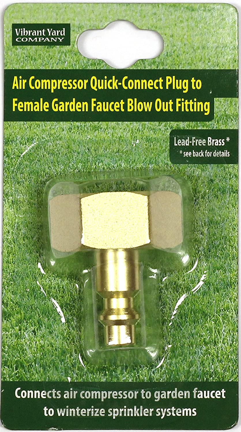 garden faucet. amazon.com : winterize sprinkler systems and outdoor faucets: air compressor quick-connect plug to female garden faucet blow out adapter fitting (solid e