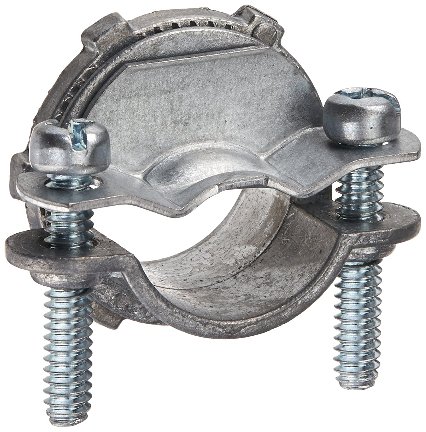 Hubbell Raco 2863B5 Clamp Type for Oval or Round Cable Connector 3 4 Inch Zinc 5 Pack