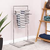 TANGKULA Floor Towel Holder 3 Tier Bathroom Free Standing Bathroom Towel Butler Rack
