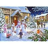 snowman celebration jigsaw puzzle 550 piece. Black Bedroom Furniture Sets. Home Design Ideas