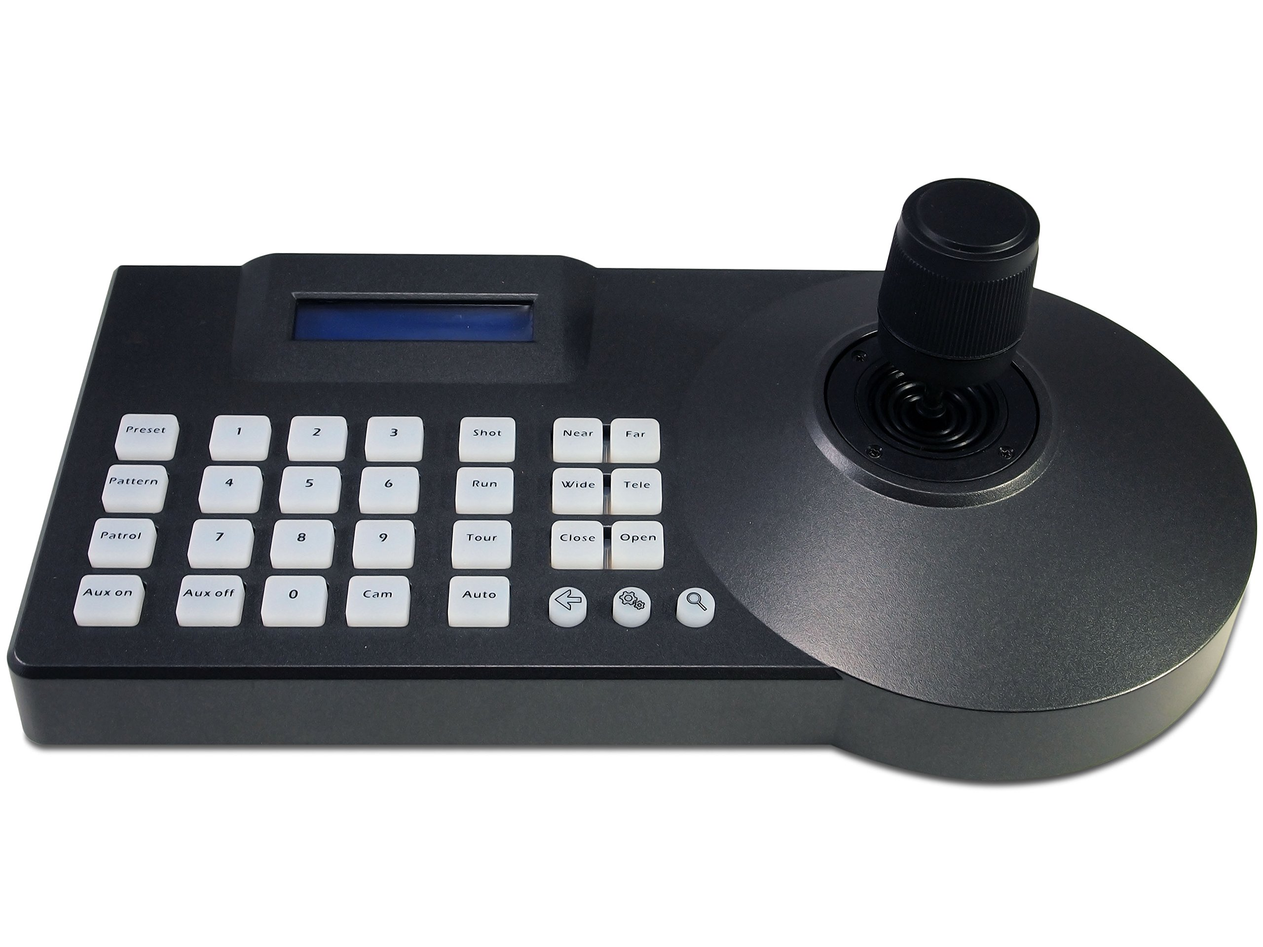 Evertech PTZ HYBRID Controller with 3D (Pan Tilt Zoom) Joystick LCD Display Keyboard Controller Connects up to 255 both Analog and Analog High Definition Speed Dome Cameras by Evertech