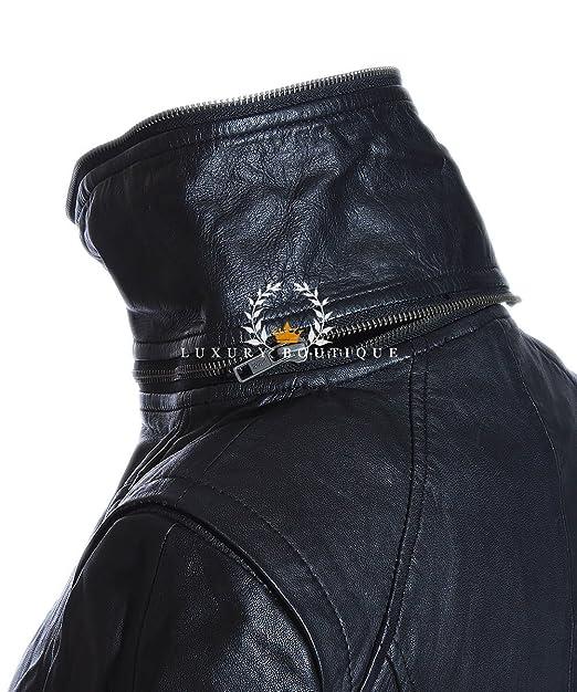 Anita Black Ladie/'s New Biker Style Fashion Real Lamsbkin Leather Jacket