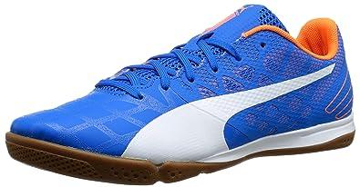 4f6538a8312859 Puma Men's EVOSPEEDSALA3.4-M, Electric Blue Lemonade/White/Orange Clownfish