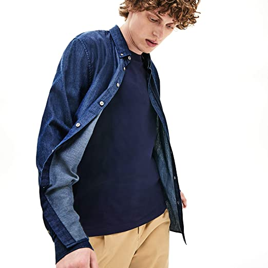 Lacoste - Camisa Punto Manga Larga Hombre - CH0567: Amazon.es ...