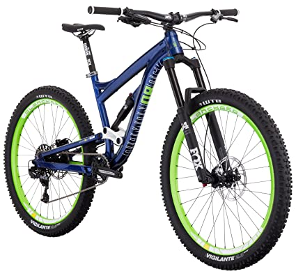 "d98b663b06f Diamondback Bicycles Mission 1 Complete All Mountain Full Suspension  27.5"" Bike, Blue, 15.5"""
