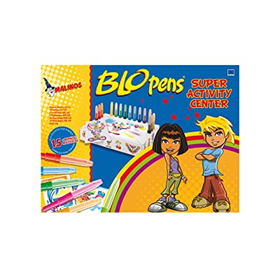Color Workshop Blopens - Juego creativo de bolígrafos de soplar (15 bolígrafos y plantillas): Juguetes y juegos