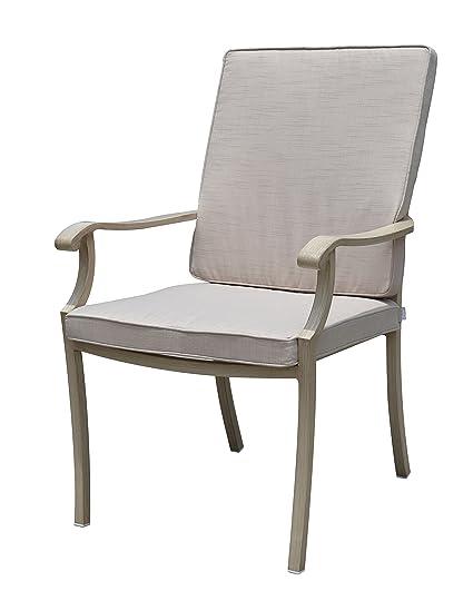 Amazon.com: Patio Casual Camel Torino aluminio sillas de ...