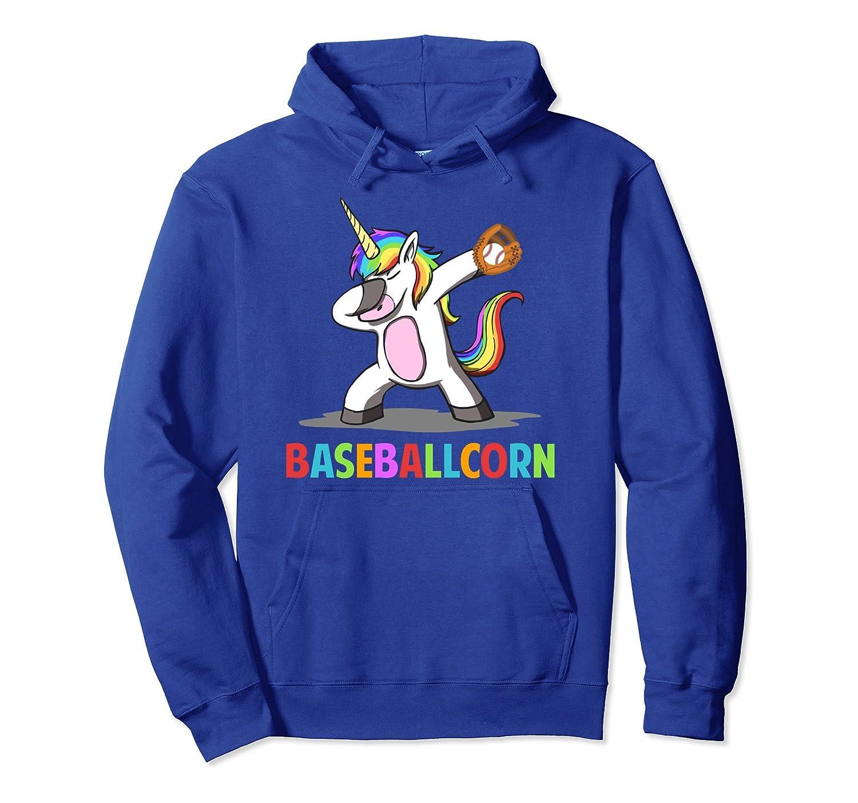 Baseballcorn Dabbing Unicorn Baseball Hoodie Sports Gifts-mt