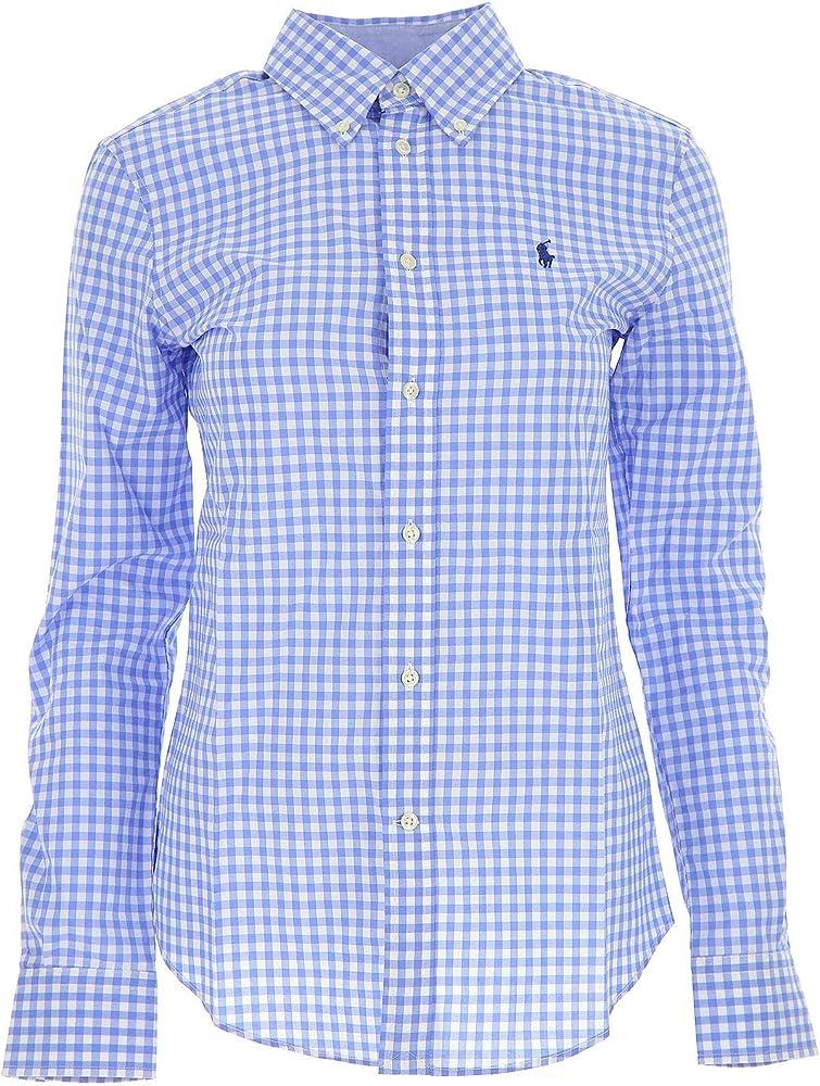 Ralph Lauren Luxury Fashion Mujer 211684075001 Azul Claro Camisa | Temporada Permanente: Amazon.es: Ropa y accesorios