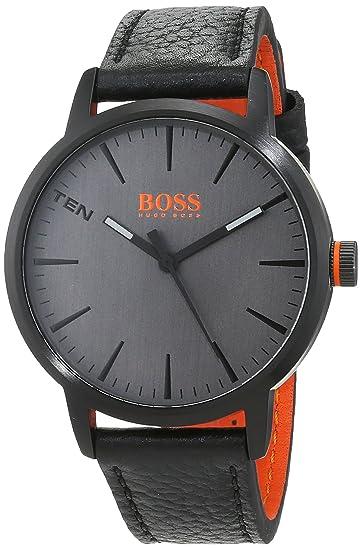 Hugo Boss Orange Reloj Análogo clásico para Hombre de Cuarzo con Correa en Cuero 1550055: Amazon.es: Relojes