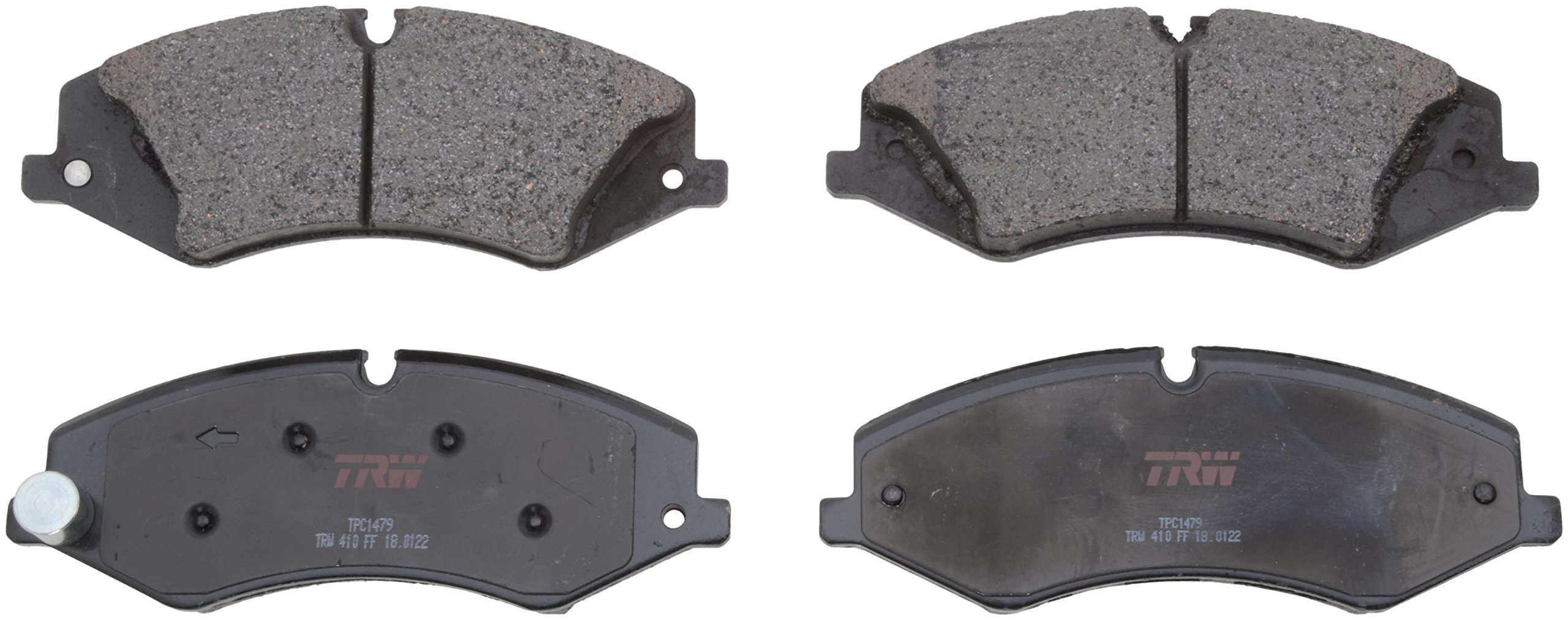 TRW Automotive TPC1479 Disc Brake Pad Set for Land Rover Range Rover Sport: 2010-2017 and other applications Front