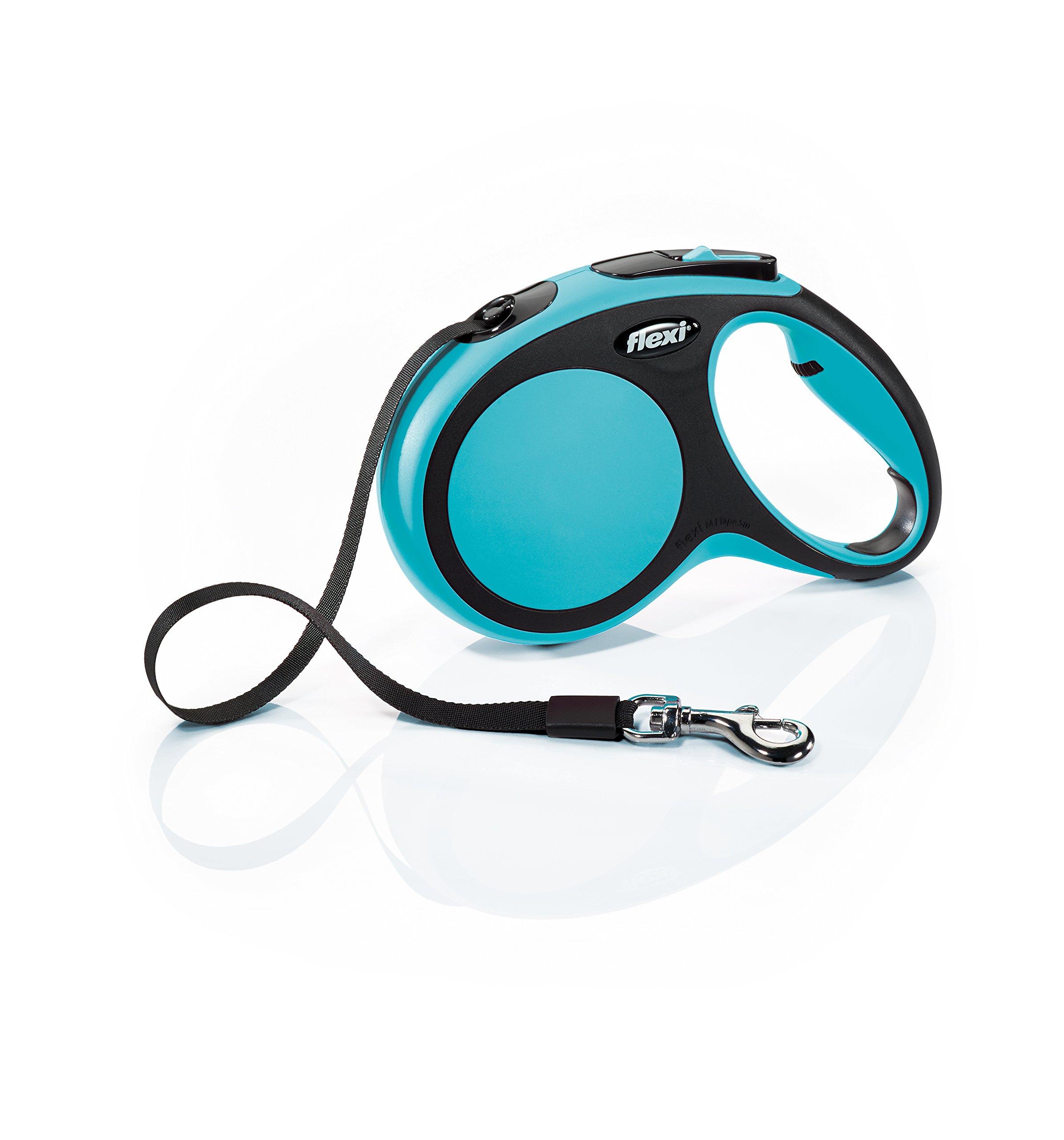 Flexi New Comfort Retractable Dog Leash (Tape), 16 ft, Medium, Blue