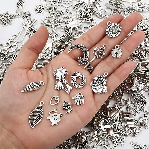 50Pcs Tibetan Silver Buttons Crafts  Jewelry Making  Closures Metal DIY 17*17mm