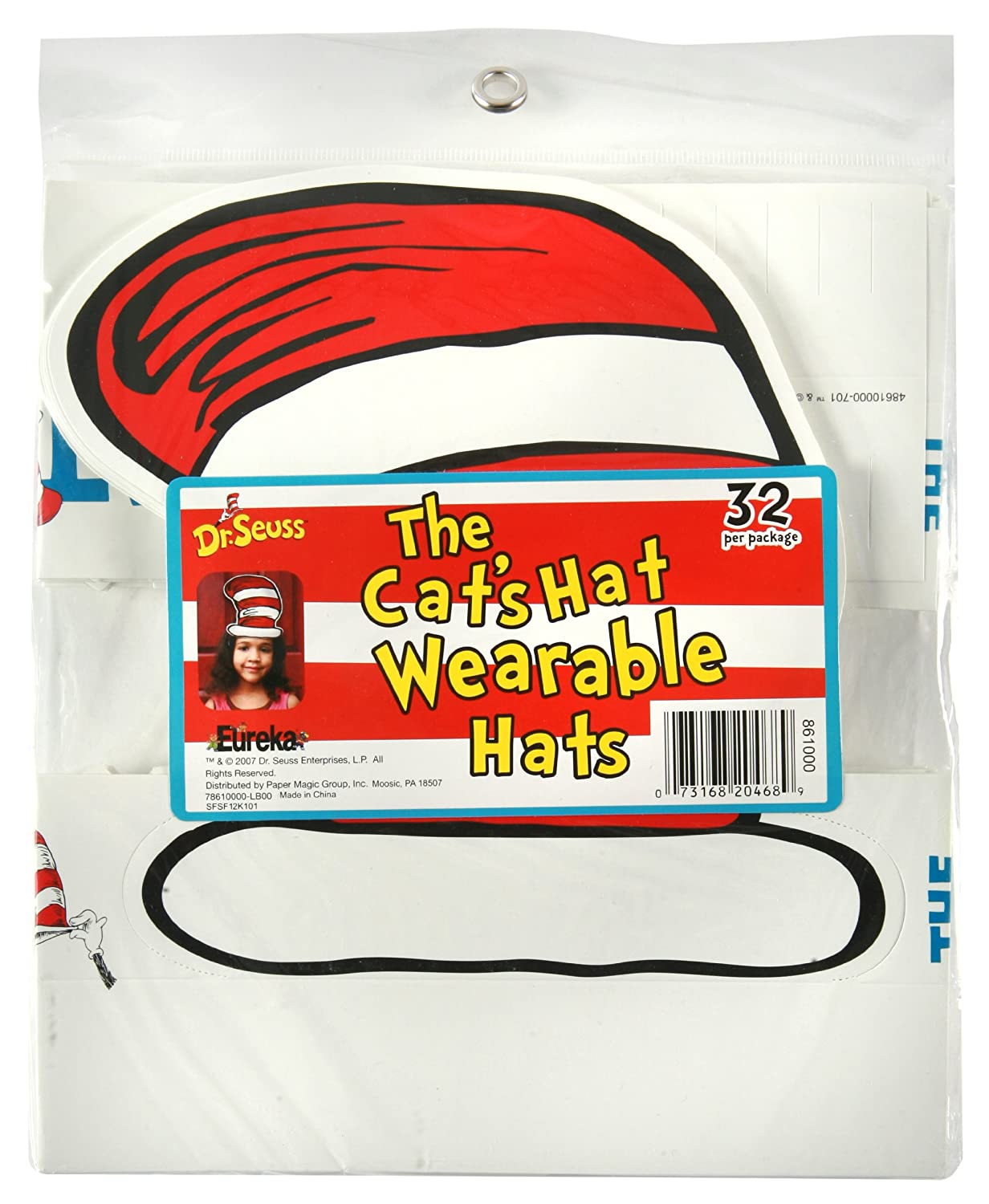 amazon com eureka dr seuss u0027s cat in the hat wearable hat cut out