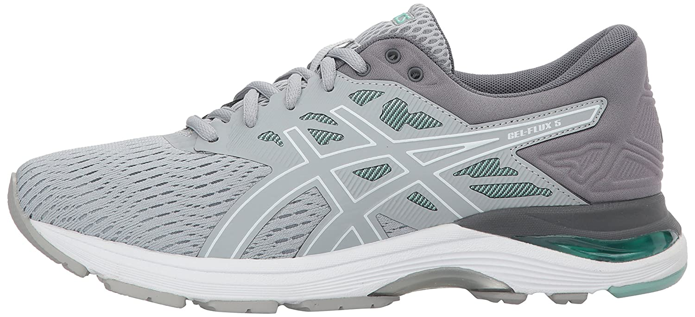 ASICS Gel-Flux 5 Women's Running B073Q6KP1T 6 D US Mid Grey/White/Opal Green