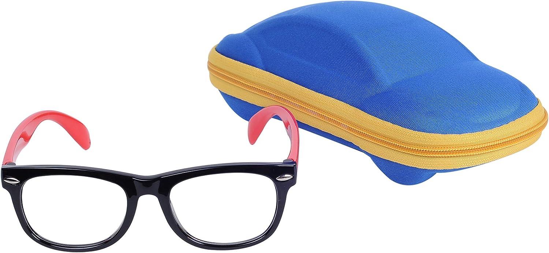 Gafas Ordenador Bebé Niños y Niñas (2-6 años) Lentes Anti-Luz Azul Anti-radiación Antireflejos Anti-fatigué Anti-UV Goma Flexible y Fundas