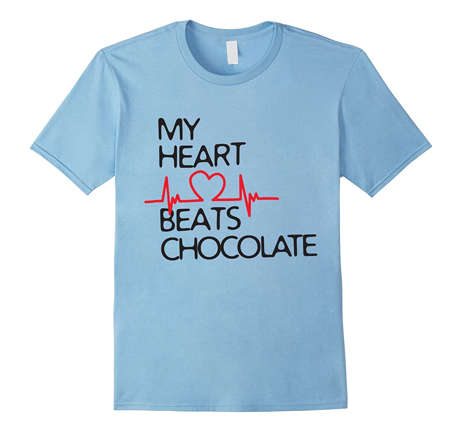 MY HEART BEATS CHOCOLATE TSHIRT FOR LOVER-Art