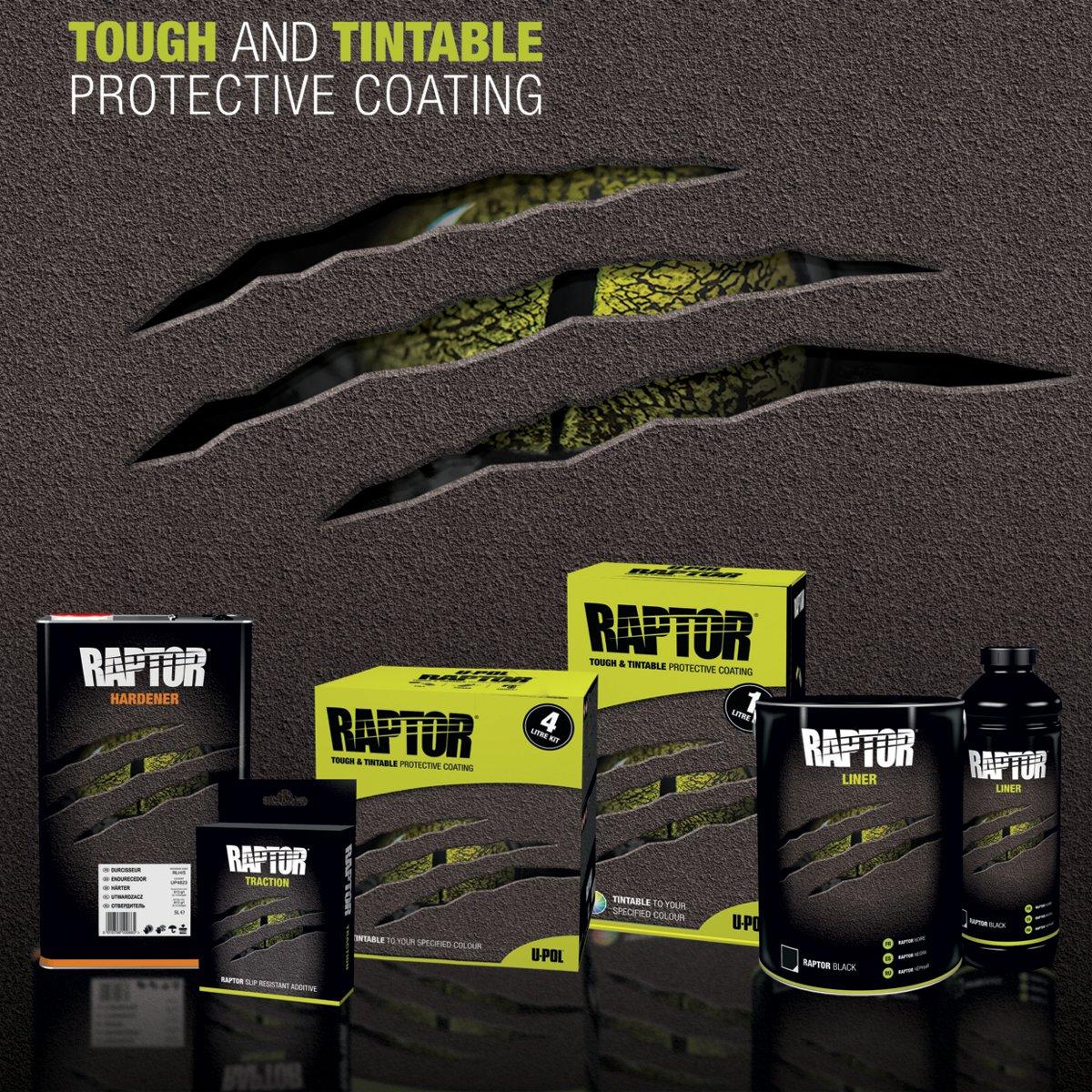 U-POL Raptor Tintable Urethane Spray-On Truck Bed Liner Kit w/ FREE Spray Gun, 8 Liters by U-Pol (Image #9)