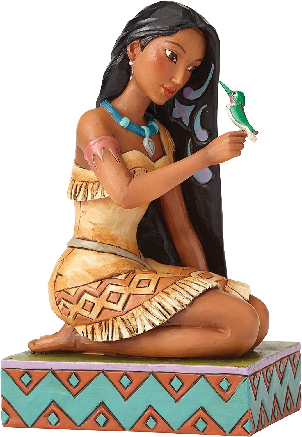 """Disney Traditions by Jim Shore Pocahontas with Flit Stone Resin Figurine, 5.5"""""""