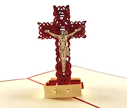 Amazon igifts and cards simple cross with jesus 3d pop up igifts and cards simple cross with jesus 3d pop up greeting card prayers faith m4hsunfo