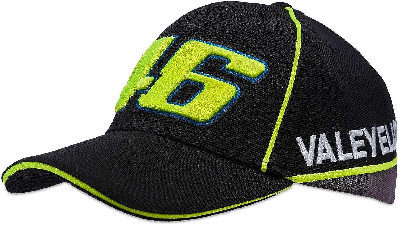 VR46 Hombre Valentino Rossi Men 46 Gorra, Negro, One Size: Amazon ...