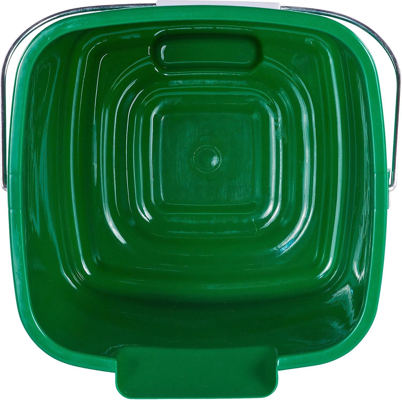 8.5 Length 8.5 Width Polyethylene Carlisle 1183209 Square Steri Pail 7.25 Height 8.5 Width 8.5 Length Green Pack of 12 HDPE 7.25 Height 6 Quart