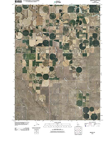 Amazoncom Idaho Maps Berger ID USGS Historical Topographic - Historical aerial maps