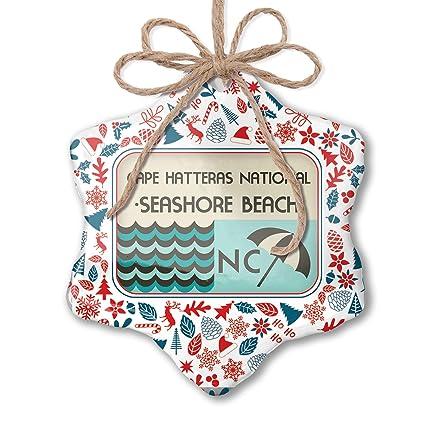Amazon Com Neonblond Christmas Ornament Us Beaches Vacation Cape