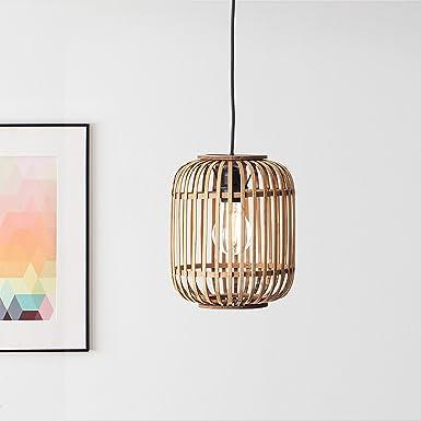 Lightbox Lámpara colgante de ratán auténtico