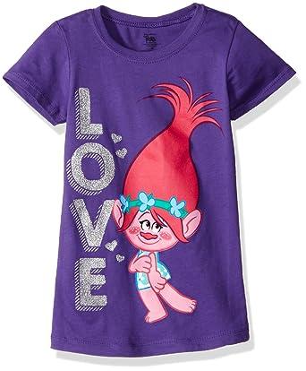 414b9d76e Amazon.com: Trolls Girls' Little Girls' Love the Princess T-Shirt: Clothing