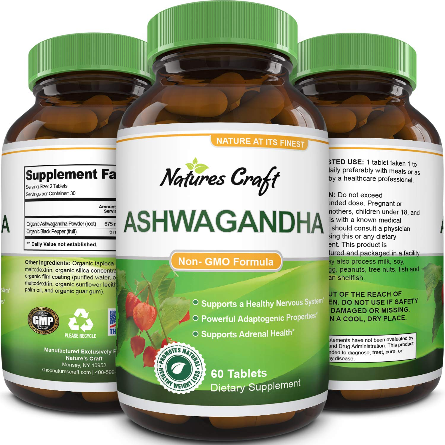 Best Ashwagandha Root Powder Capsules 1200 mg Premium Relaxation Sleep Natural Supplement Stress Relief Energy Rejuvenate 100 Pure Potent Ingredients for Women and Men By Biogreen Labs