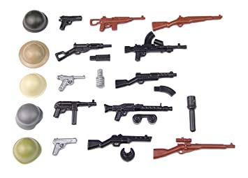 BrickArms WW2 WWII Pistol Set Custom Weapons for LEGO