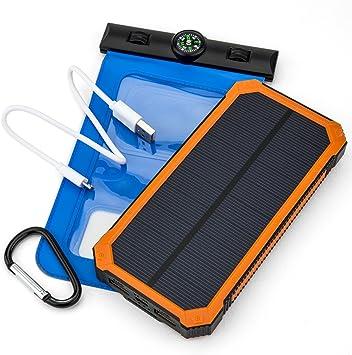 Opul Cargador solar con paneles solares – Duradero y portátil ...