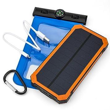 Opul Cargador solar con paneles solares – Duradero y portátil para llevarlo en la mochila - Con funda impermeable para móvil GRATIS para cargar en ...