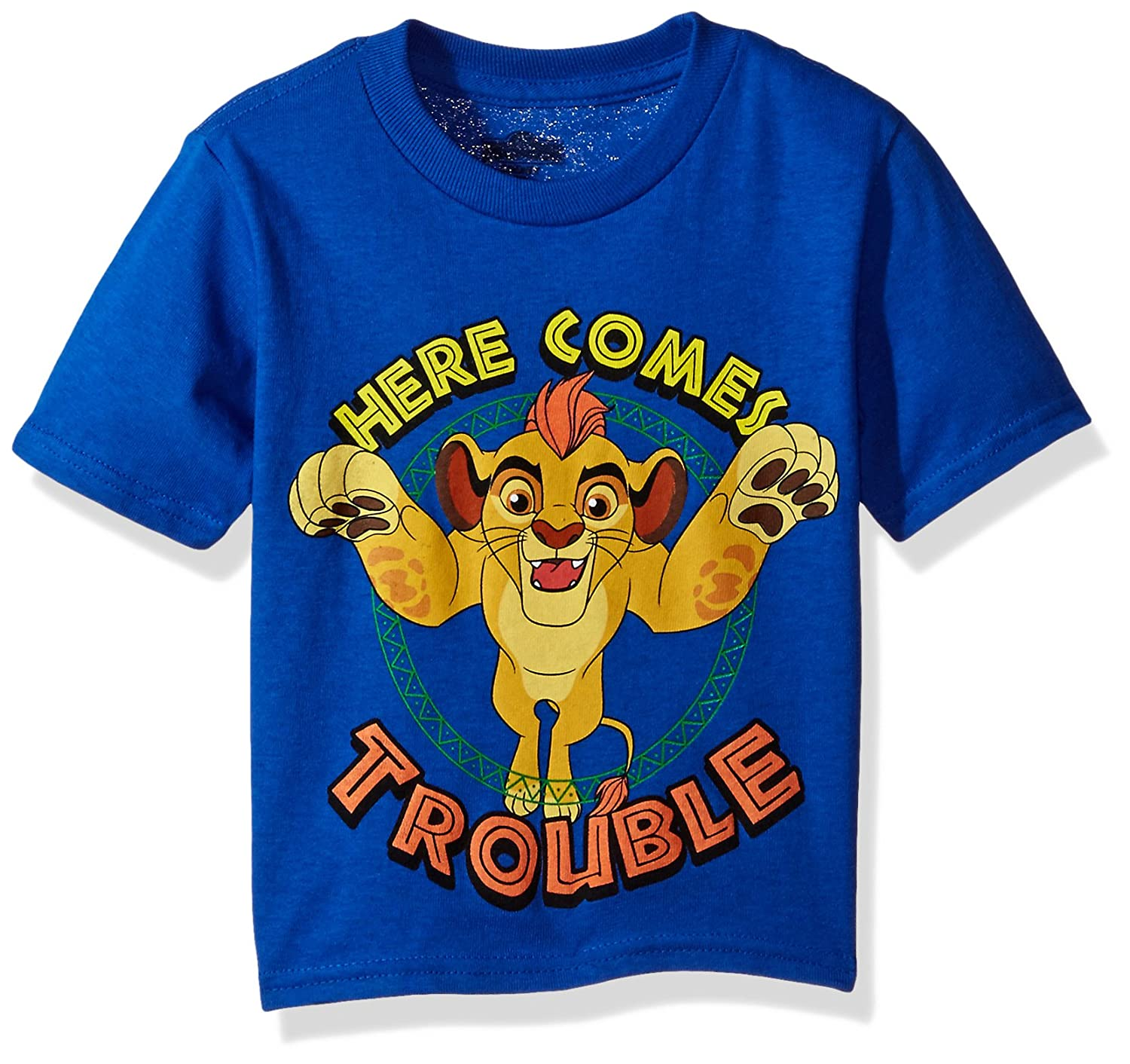 Disney Toddler Boys' Lion Guard Here Comes Trouble Short Sleeve T-Shirt Freeze Children' s Apparel KESD040-02T