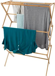 Lavish Home 83-68 Bamboo Clothes Drying Rack