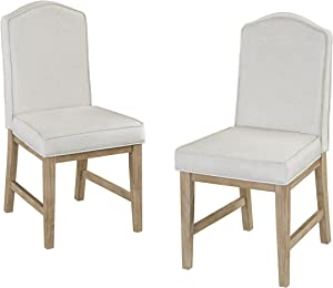 Classic White Wash Upholstered Dining Chairs by Home Styles