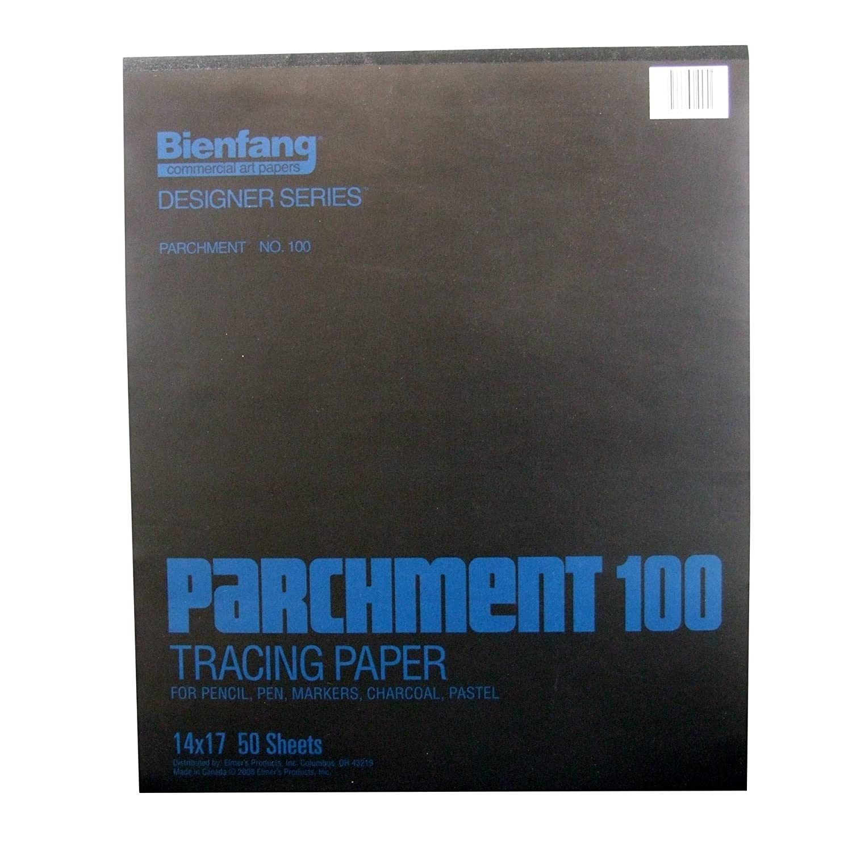 50 Sheets per Pad 9 x 12 Inches Bienfang Parchment Tracing Paper Transparent 240-121