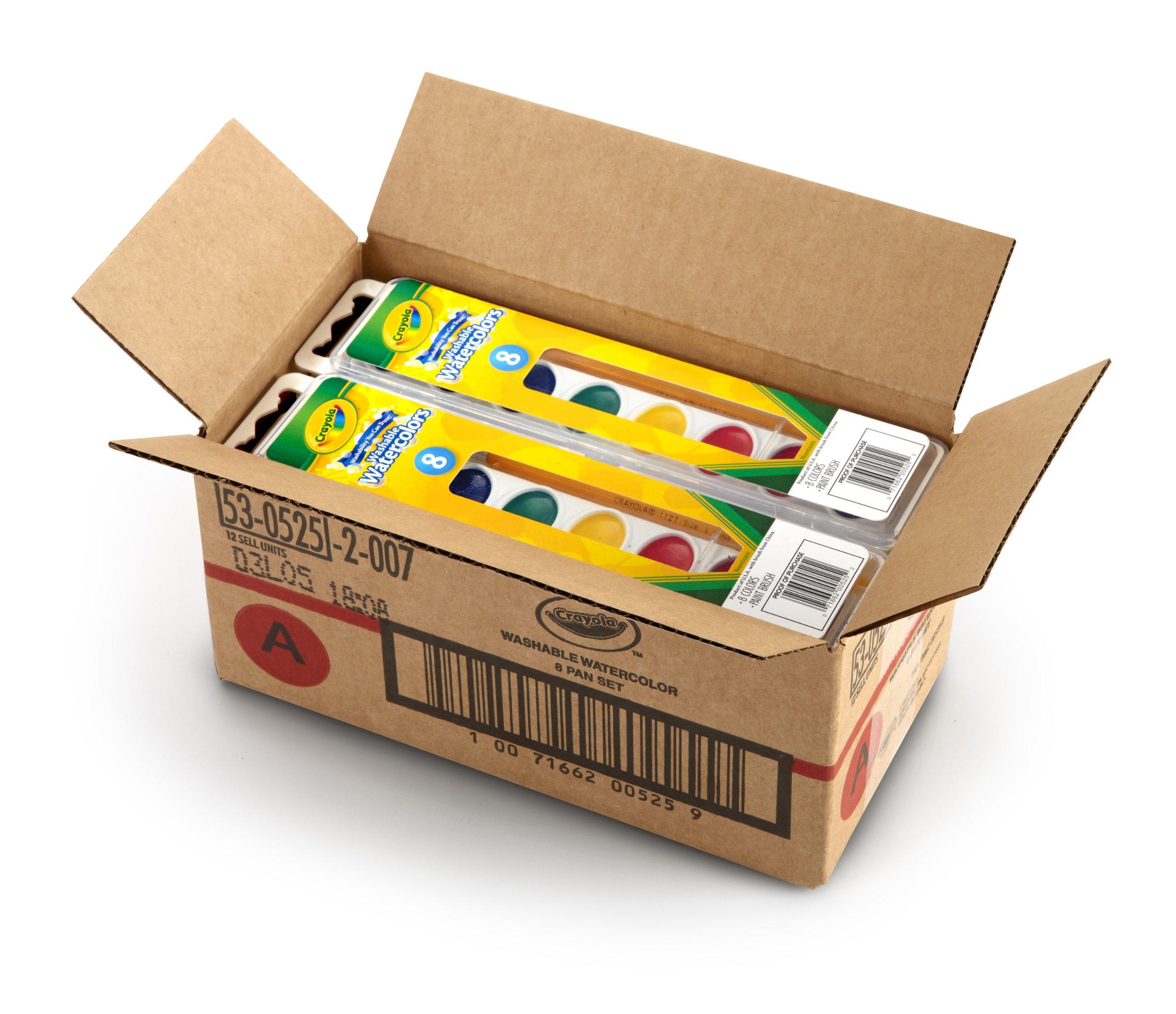 Crayola 53-0525-1 8 Pan Set Washable Watercolors, 12 Pack by Crayola (Image #2)