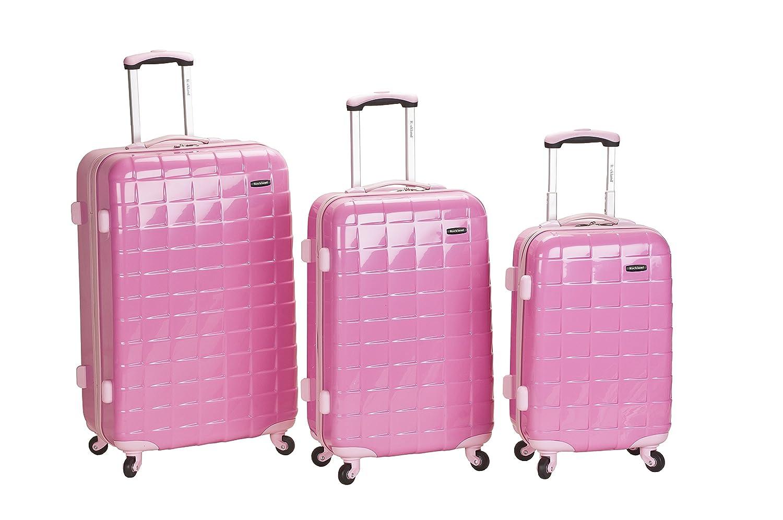Amazon.com | Rockland Luggage Celebrity 3 Piece Luggage Set, Black ...