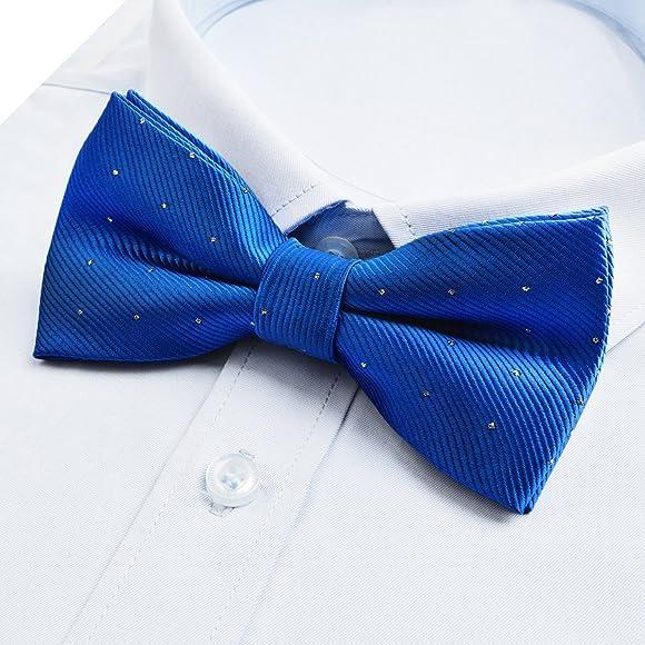 Alizeal Mini Topos-Pajarita y Pañuelo para Hombre Azul Klein ...