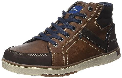 Tom Tailor 3781404, Sneaker a Collo Alto Uomo, Nero (Nero), 42 EU