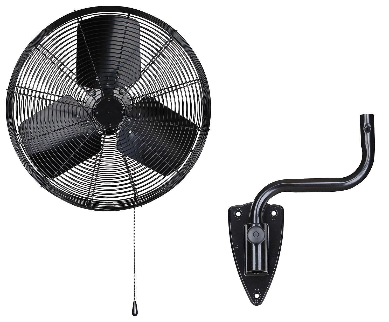 Dayton 13V401 Oscillating Fan, Wall Mount, 18 In