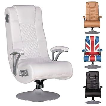 Wohnling Soundchair Specter Gaming Chair Weiß Soundsessel