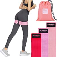 Shinyee Booty Hip Bands Resistance Workout Exercise Band for Women,Fitness Gym Loop Circle for Legs and Butt,Non Slip No Roll Soft Fabric Heavy Duty Bootie Training Band for Hip Up Squat Thrust Glutes