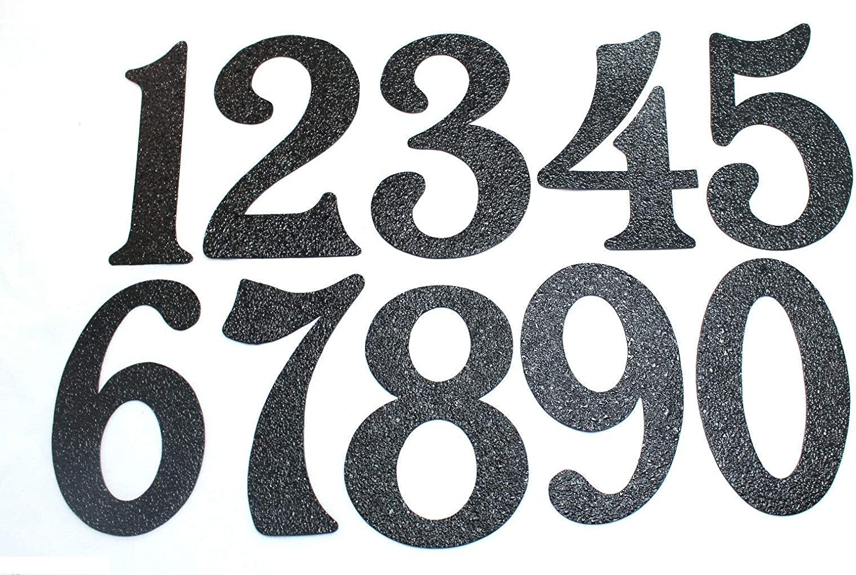 Great for Garage Doors 5 Black Embossed Magnetic House Numbers
