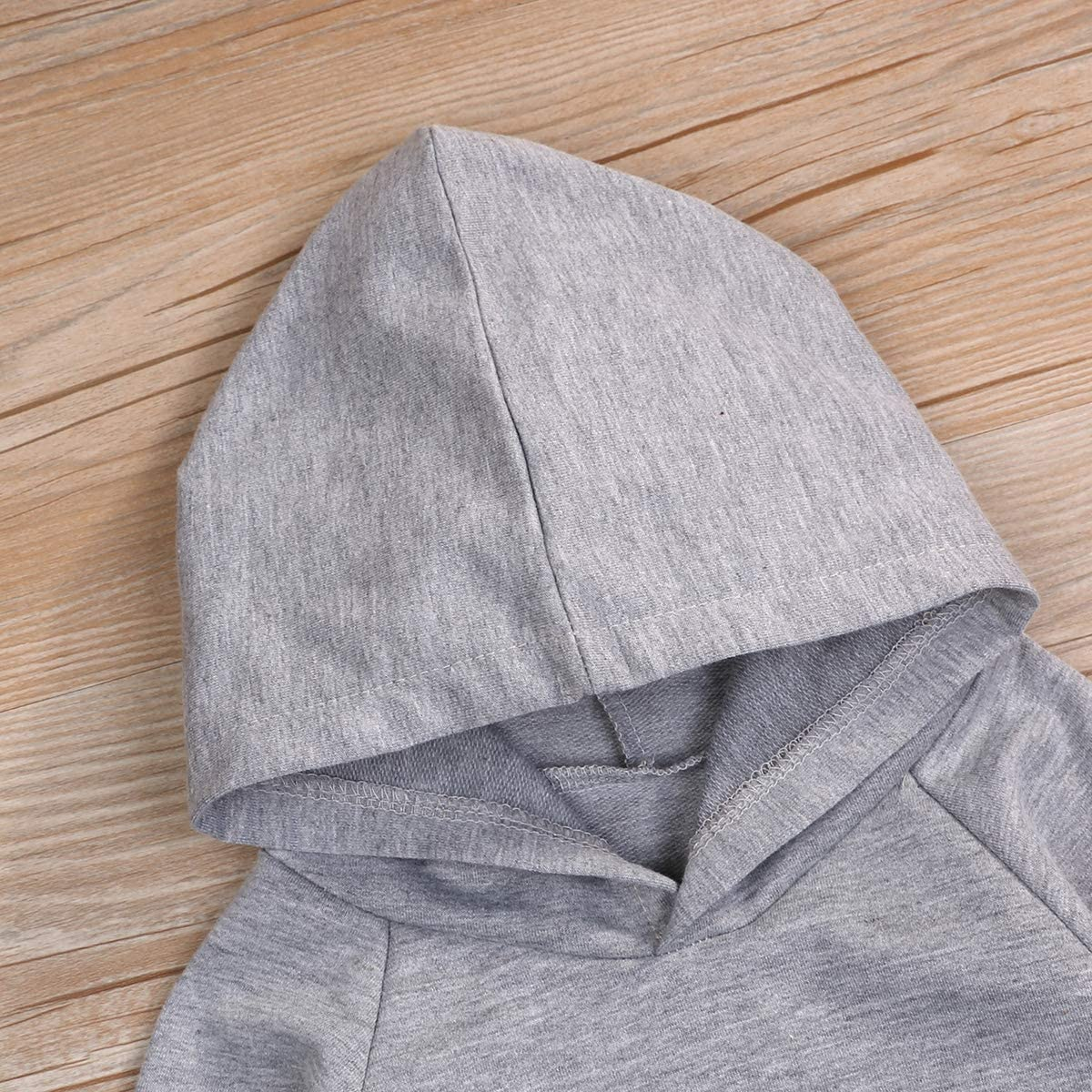 Unisex Baby Autumn Winter Hooded Wild Child T-Shirt Infant Boys Girls Cotton Hoodie Pullover Top