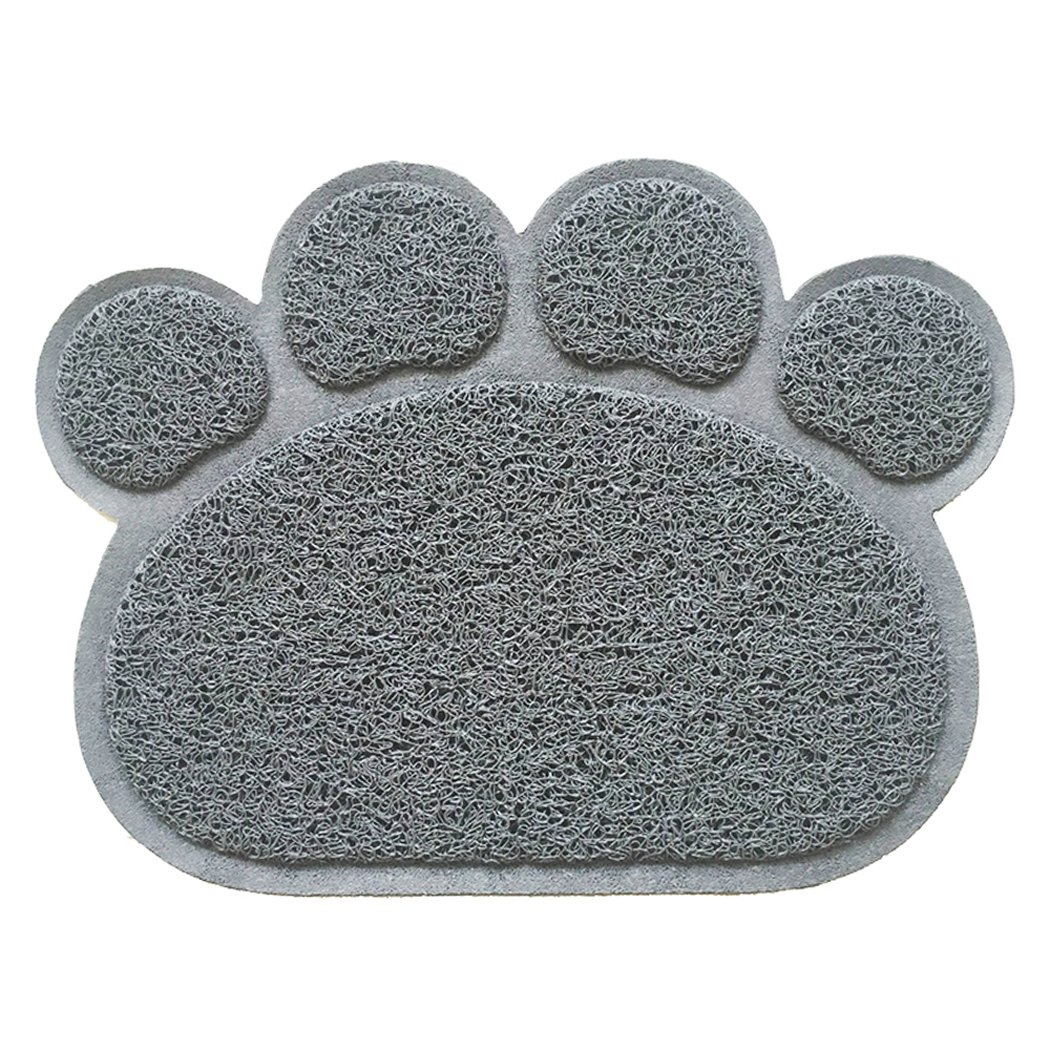 Legendog Dog Mat, Dog Feeding Mat Multifunctional Animal Footprint Pet Food Mat Door Mat Bath Rug