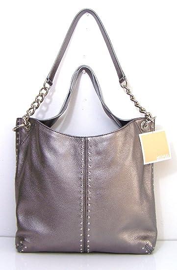 Amazon.com: michael kors MK Astor bolso gris Gunmetal cadena ...